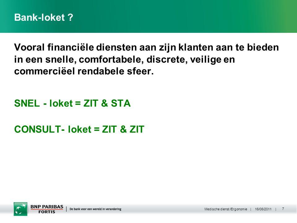 | 16/06/2011 | Medische dienst /Ergonomie 7 Bank-loket .