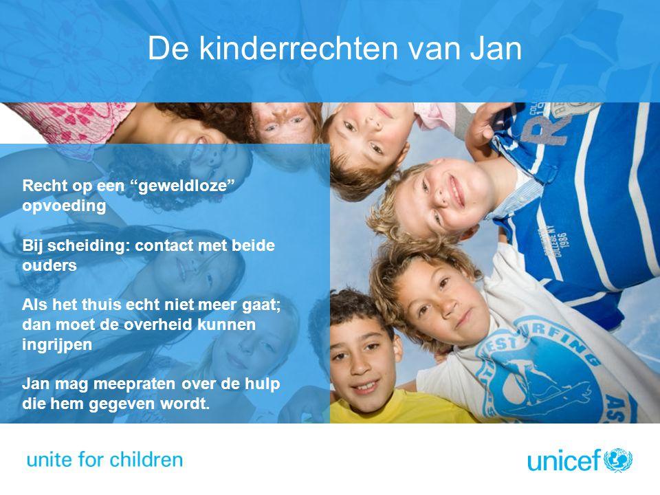 """De kinderrechten van Jan Recht op een """"geweldloze"""" opvoeding Bij scheiding: contact met beide ouders Als het thuis echt niet meer gaat; dan moet de ov"""