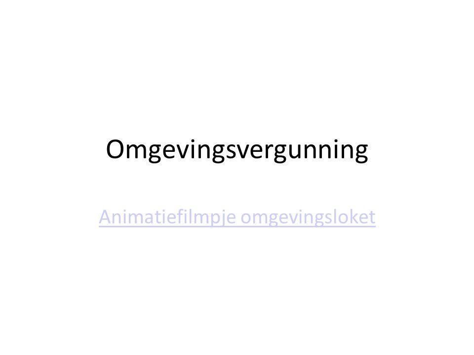 Omgevingsvergunning Animatiefilmpje omgevingsloket