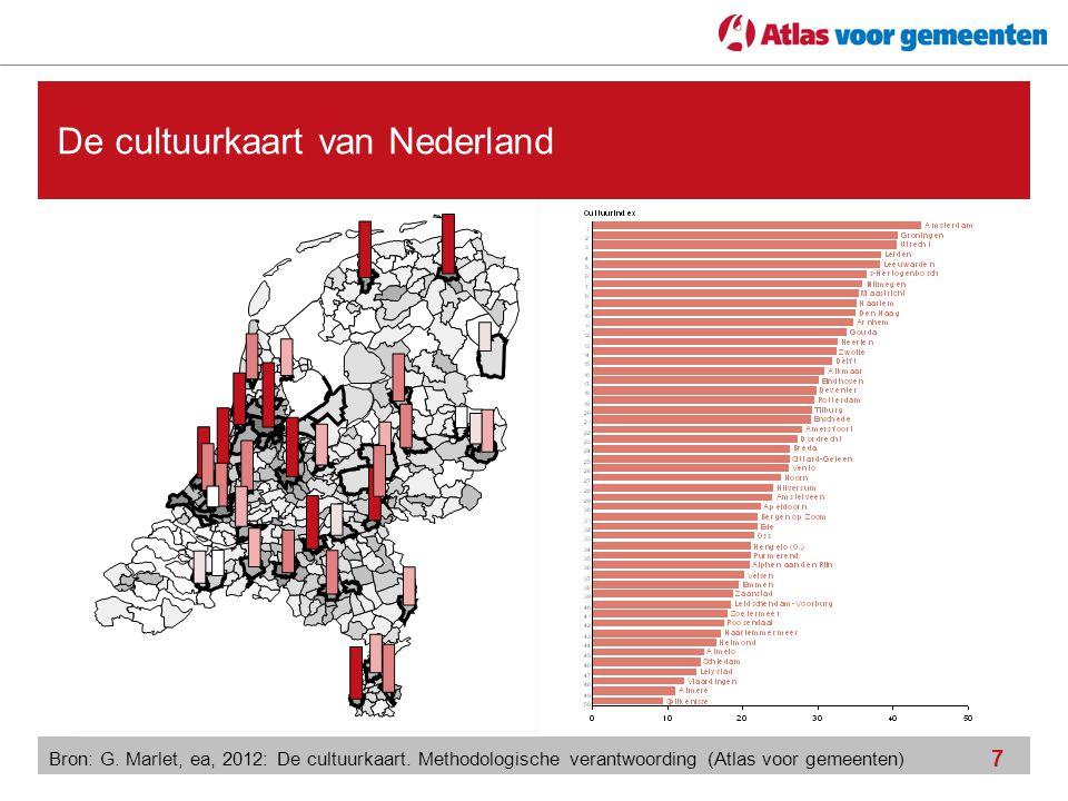 7 De cultuurkaart van Nederland Bron: G. Marlet, ea, 2012: De cultuurkaart. Methodologische verantwoording (Atlas voor gemeenten)
