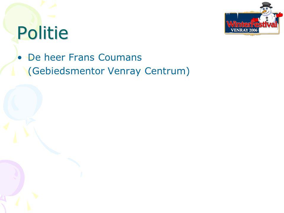 Politie De heer Frans Coumans (Gebiedsmentor Venray Centrum)
