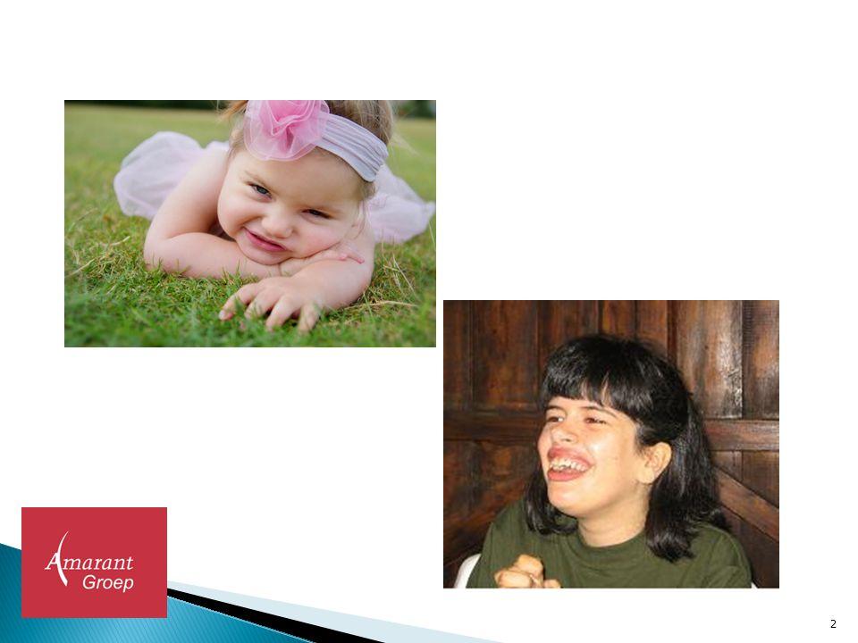  Neurodegeneratieve aandoening mutatie MECP2 gen Xp28  Prevalentie 1:8000 en vaker bij vrouwen  Begint met normale ontwikkeling > knik in de ontwikkeling  Ernstig verstandelijke beperking  Gemiddelde levensduur 47 jaar  Gezondheid:  Scoliose  Epilepsie  Ademhaling  Voeding 3