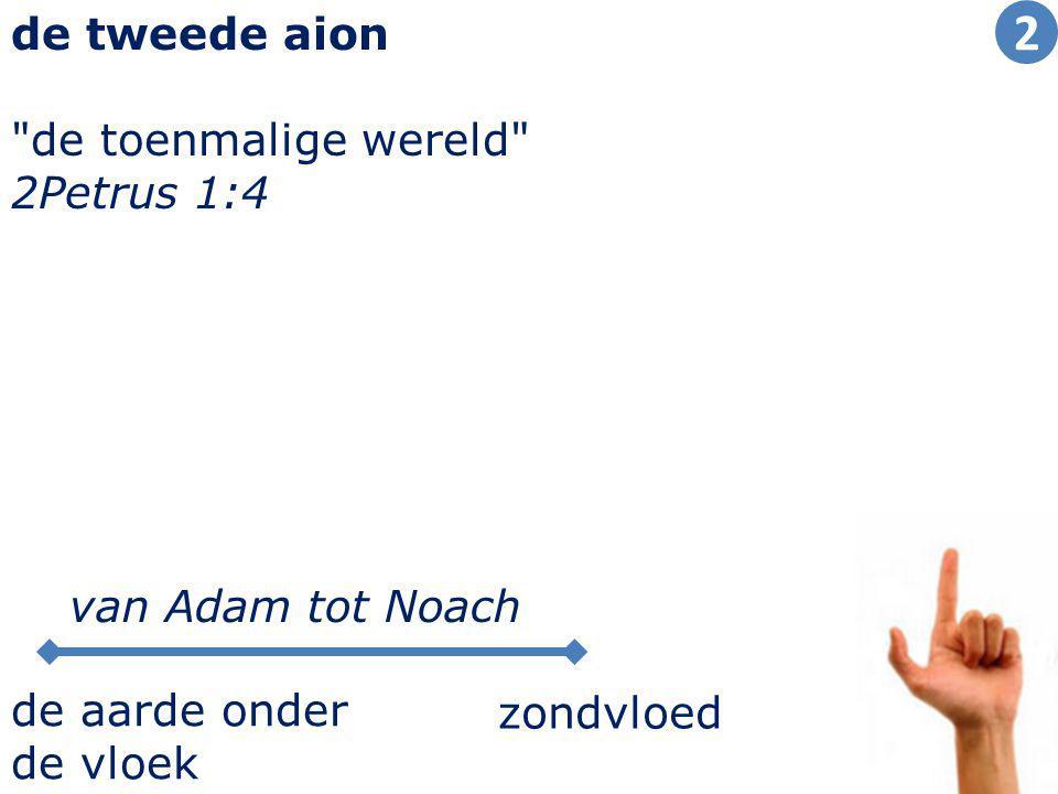 14 de tweede aion de toenmalige wereld 2Petrus 1:4 zondvloed de aarde onder de vloek van Adam tot Noach 2
