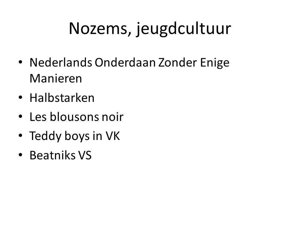 Nozems, jeugdcultuur Nederlands Onderdaan Zonder Enige Manieren Halbstarken Les blousons noir Teddy boys in VK Beatniks VS