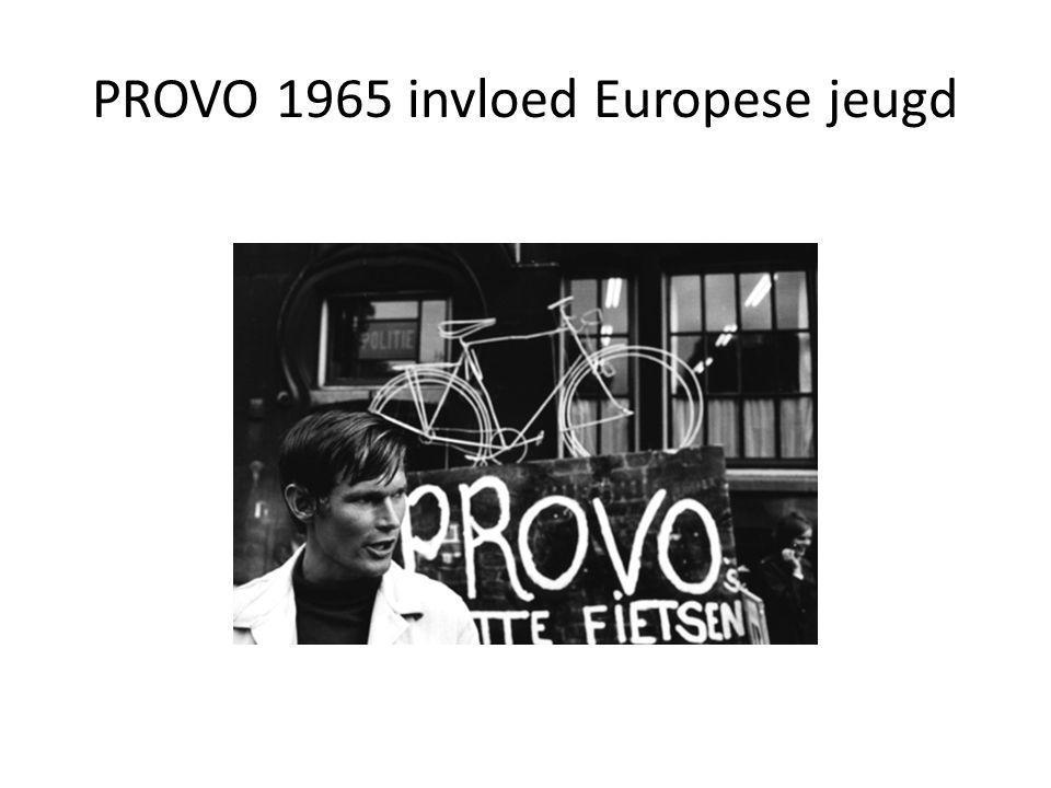 PROVO 1965 invloed Europese jeugd