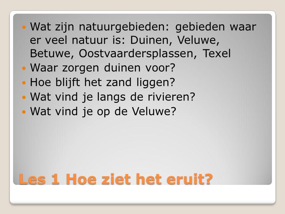 Les 2 Kiezen en delen Er is in Nederland ruimte voor vrije tijd.