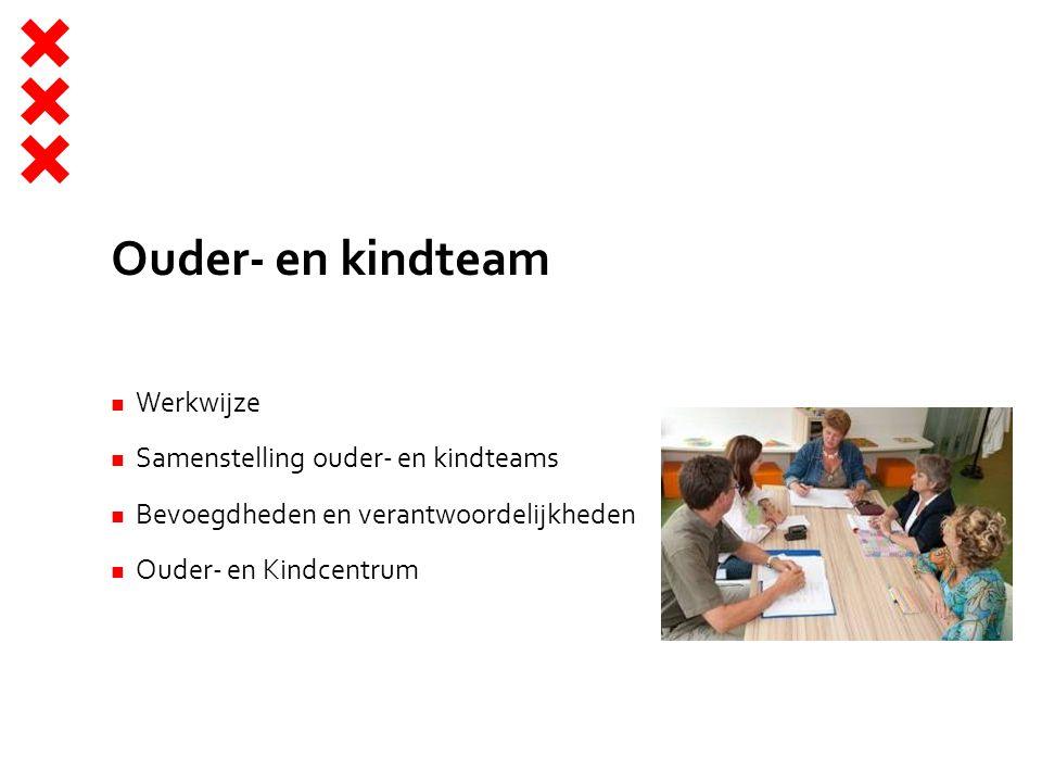 Ouder- en kindteam Werkwijze Samenstelling ouder- en kindteams Bevoegdheden en verantwoordelijkheden Ouder- en Kindcentrum