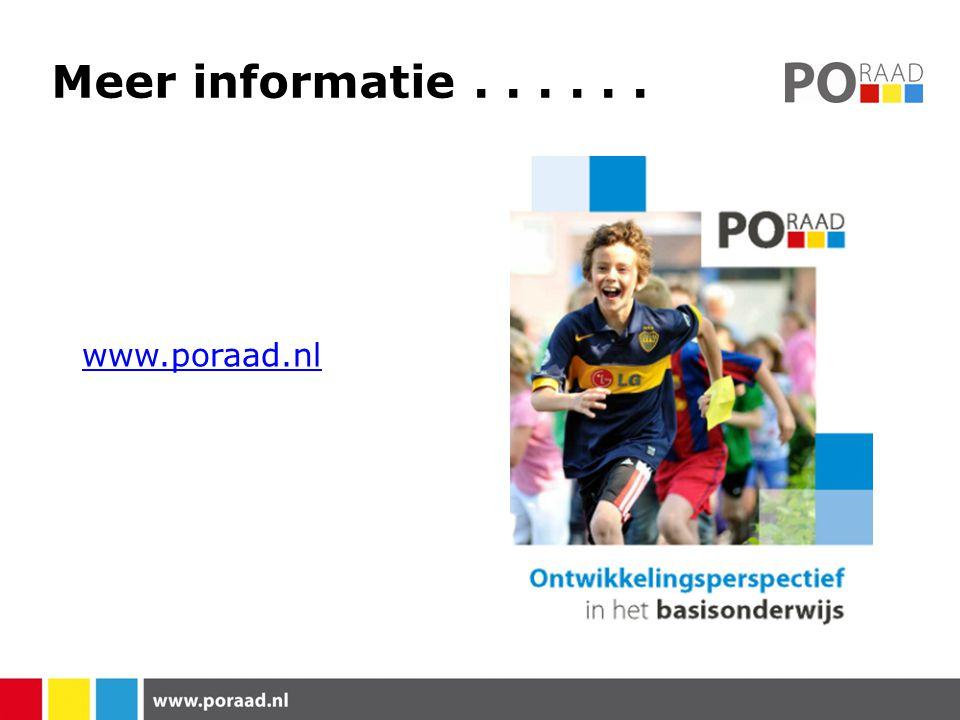 Meer informatie...... www.poraad.nl