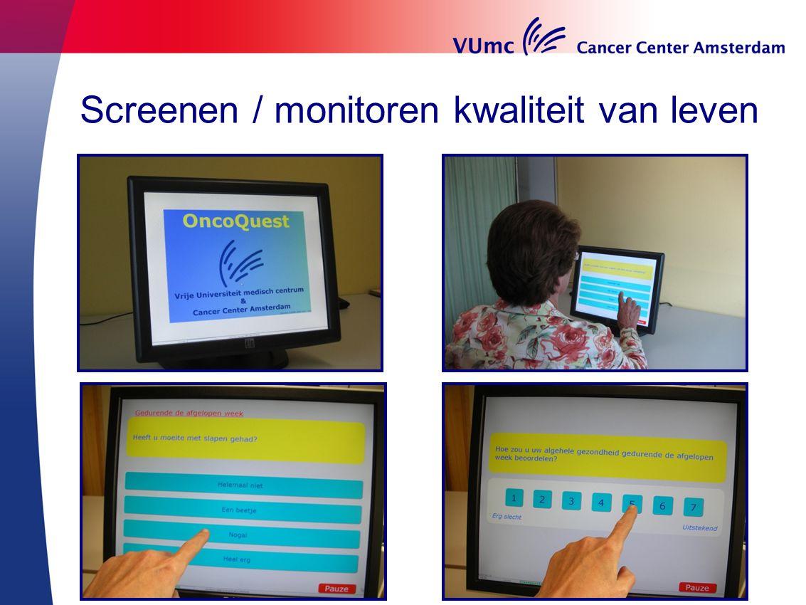 Screenen / monitoren kwaliteit van leven