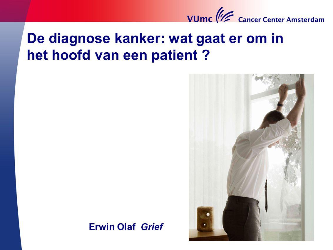 De diagnose kanker: wat gaat er om in het hoofd van een patient ? Erwin Olaf Grief