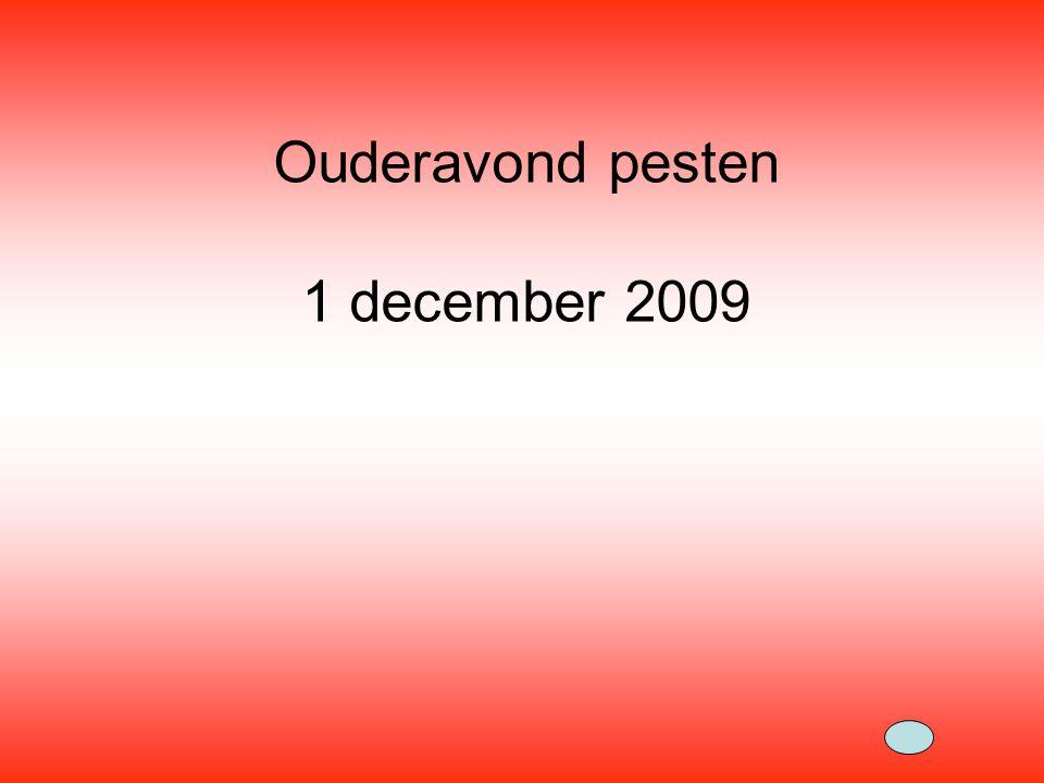 Ouderavond pesten 1 december 2009