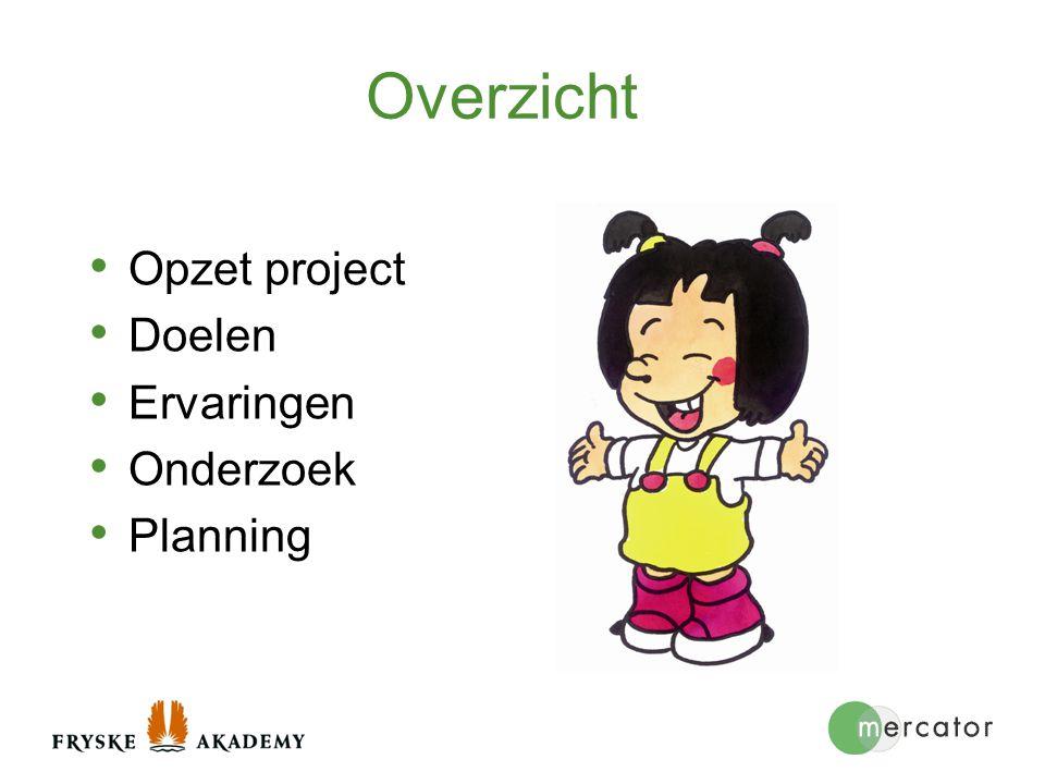 Onderzoek Kleine groep deelnemers: daardoor mogelijk om proces te volgen 3 constructen - Opvoedideeën - Moeder-kind-interactie - Taalontwikkeling Papiamentu en Nederlands