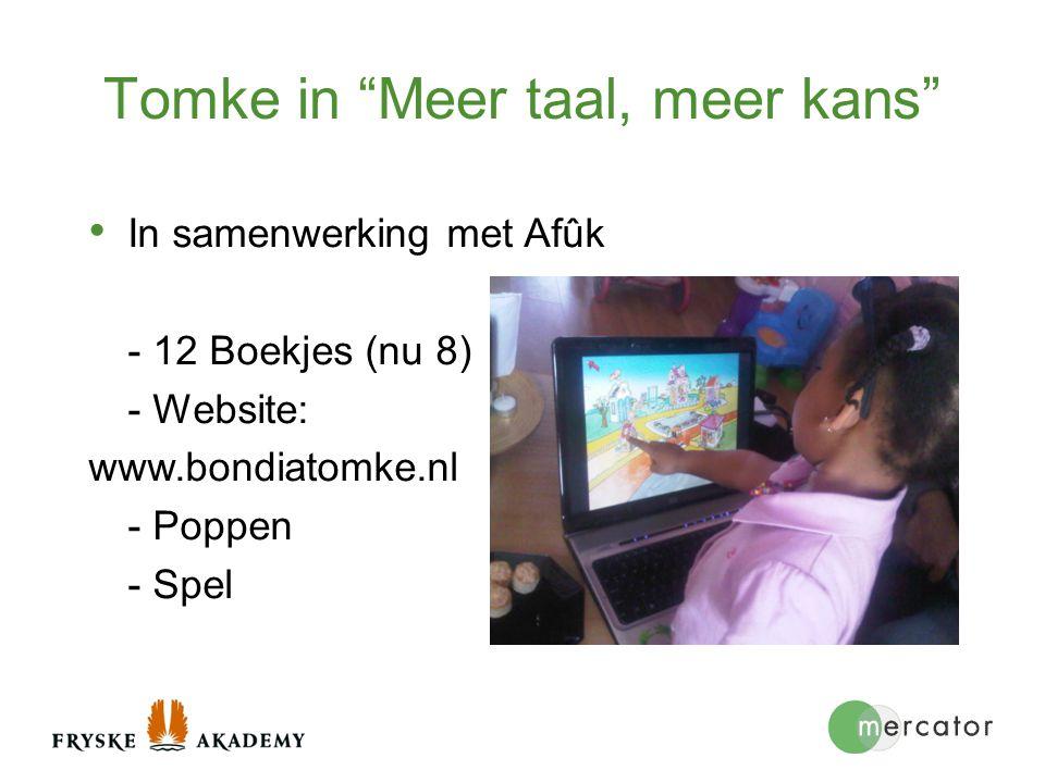 """Tomke in """"Meer taal, meer kans"""" In samenwerking met Afûk - 12 Boekjes (nu 8) - Website: www.bondiatomke.nl - Poppen - Spel"""