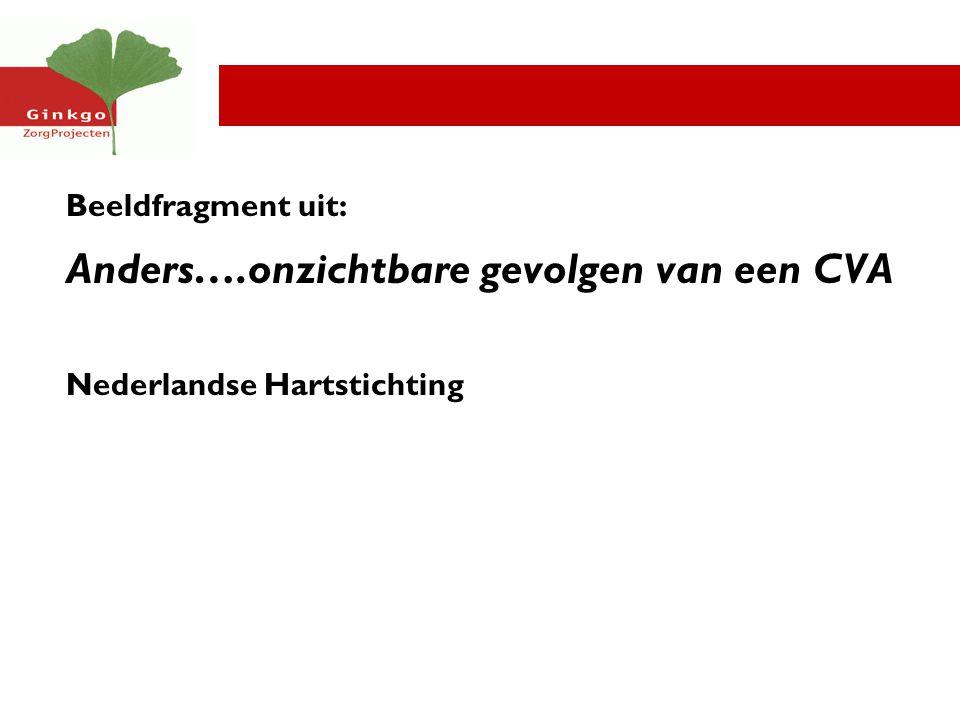 Beeldfragment uit: Anders….onzichtbare gevolgen van een CVA Nederlandse Hartstichting