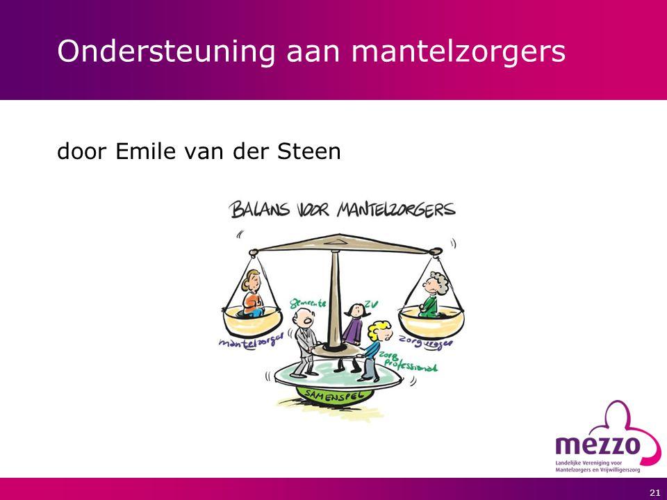 21 Ondersteuning aan mantelzorgers door Emile van der Steen