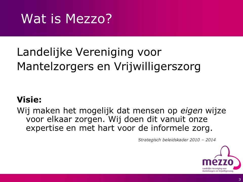 4 Wat doet Mezzo.Belangenbehartiging:mantelzorg en vrijwilligerszorg.