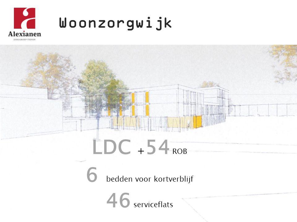 LDC + 54 ROB 6 bedden voor kortverblijf 46 serviceflats