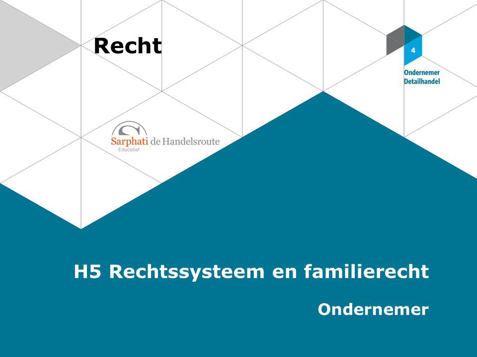 Recht H5 Rechtssysteem en familierecht Ondernemer