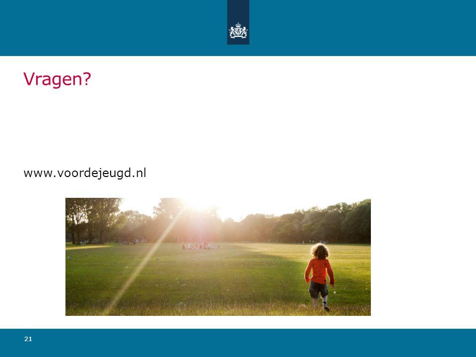 21 Vragen? www.voordejeugd.nl