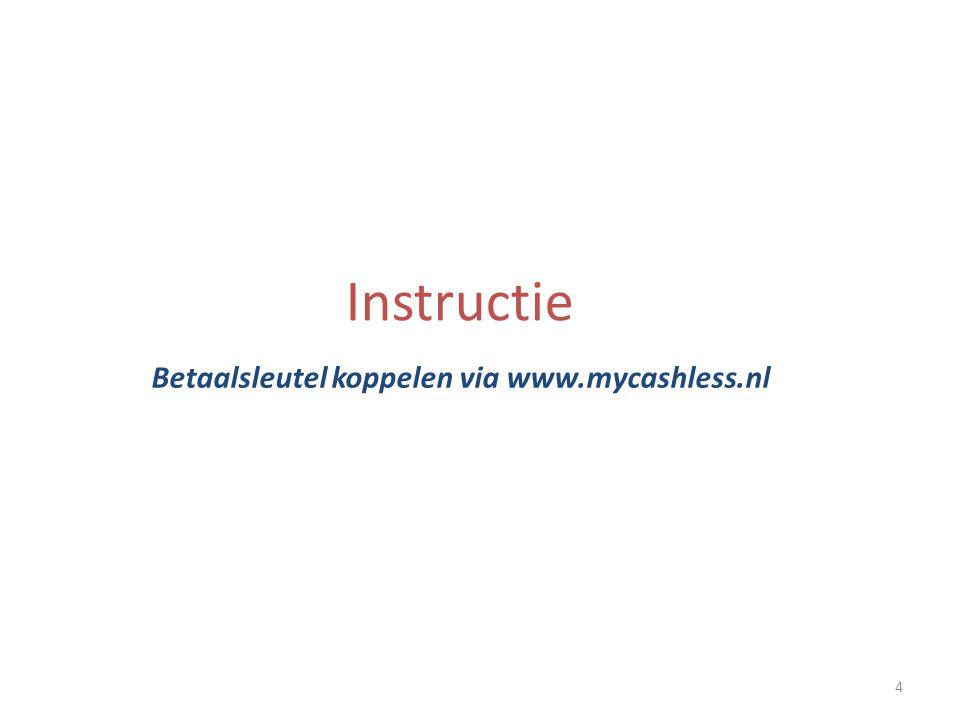 4 Instructie Betaalsleutel koppelen via www.mycashless.nl