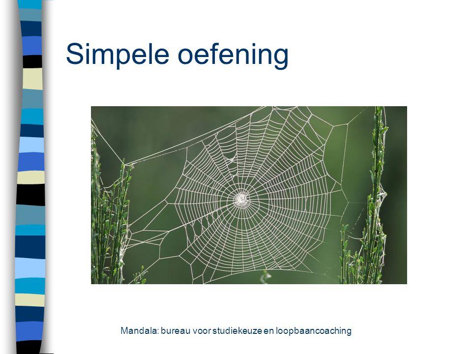 Simpele oefening Mandala: bureau voor studiekeuze en loopbaancoaching