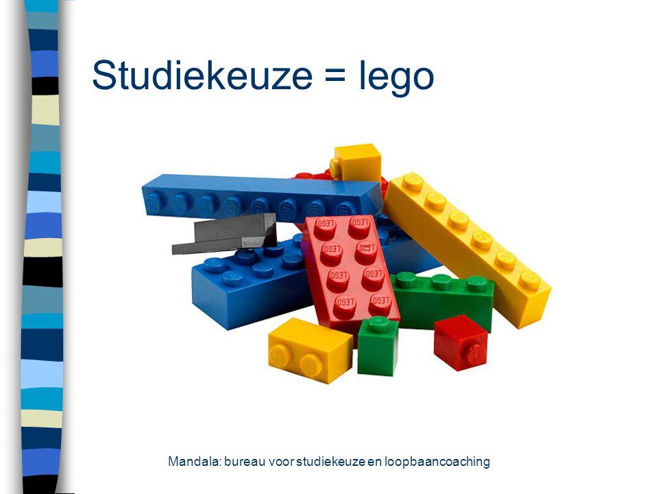 Studiekeuze = lego Mandala: bureau voor studiekeuze en loopbaancoaching