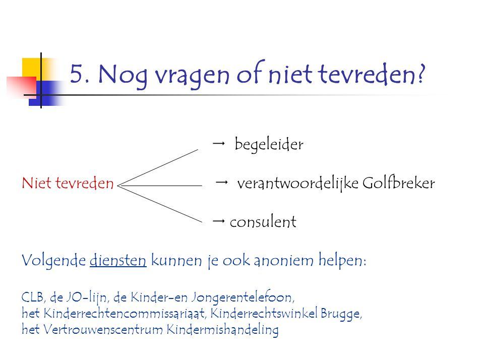 6.Wens je informatie of raad.
