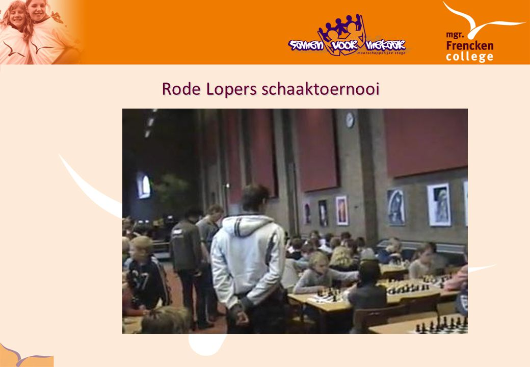 Rode Lopers schaaktoernooi