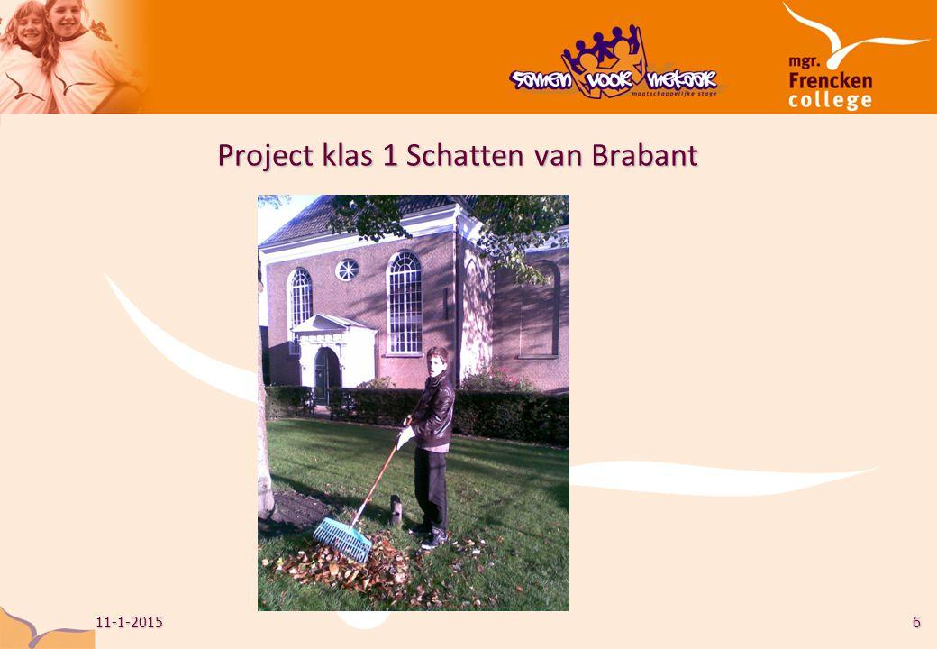 Project klas 1 Schatten van Brabant 11-1-20156