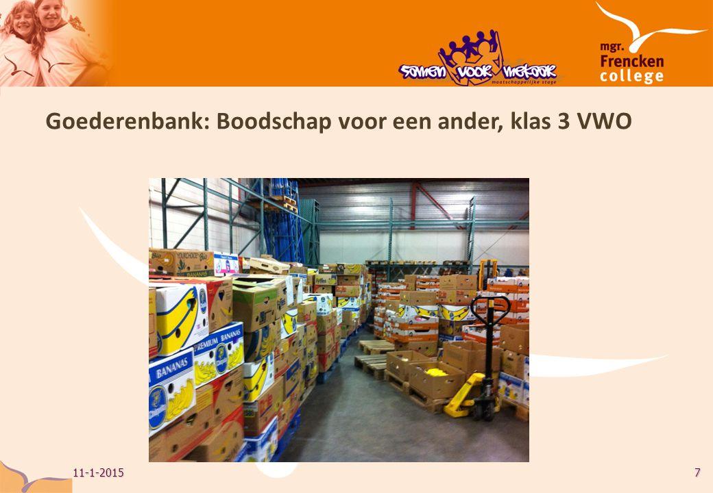 7 Goederenbank: Boodschap voor een ander, klas 3 VWO