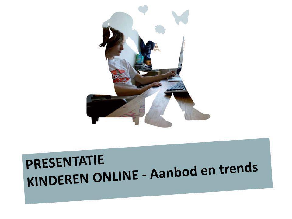Kinderen gaan steeds jonger online Eerst draaide het bij hen om spelen, nu om: contact Digitaal aanbod voor kinderen tot 12 jaar neemt toe Steeds meer websites met de component 'sociale media'