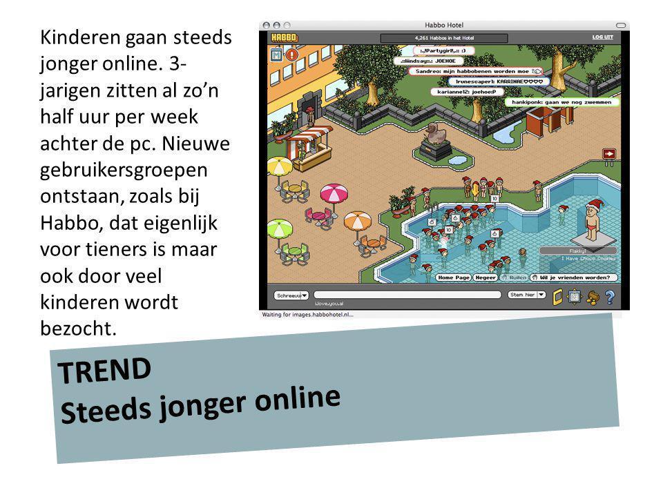 TREND Meer aanbod Er wordt ook steeds meer speciaal voor jonge kinderen gebouwd.