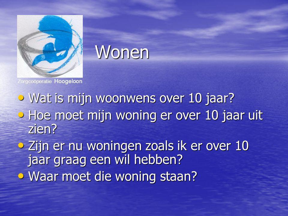 Zorgcoöperatie Hoogeloon Welzijn Wat is over 10 jaar voor mij belangrijk.