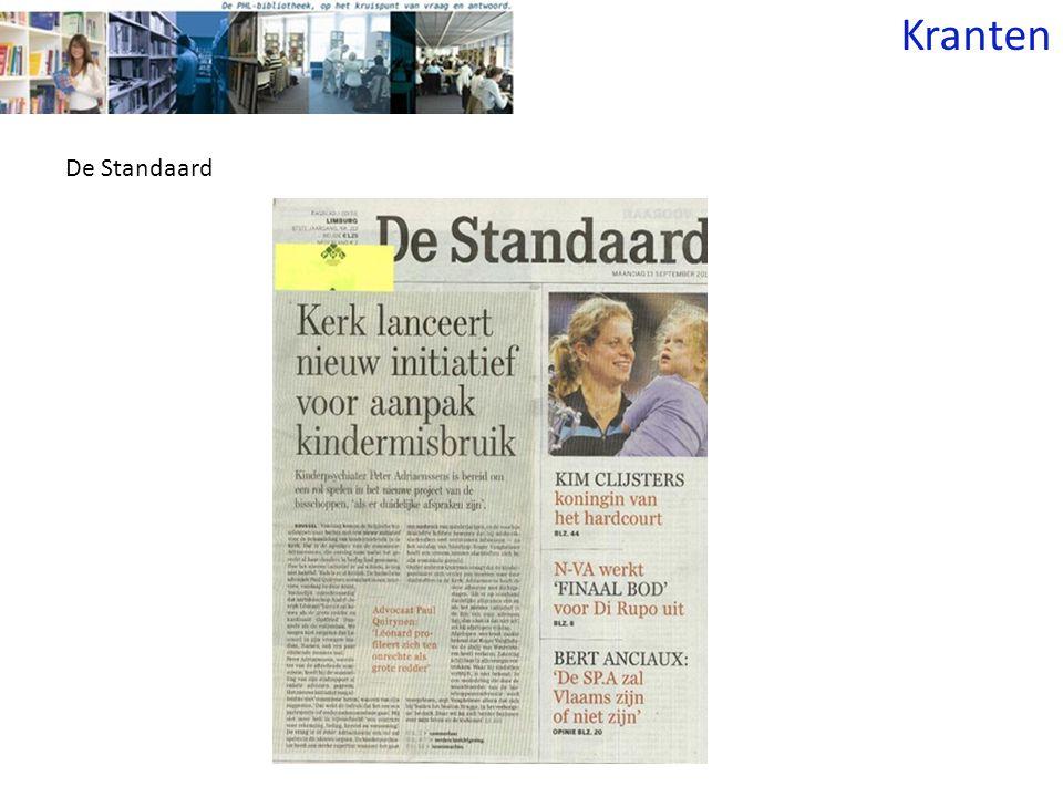 Kranten De Standaard