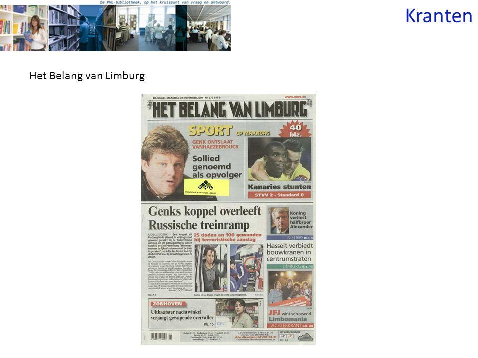 Kranten Het Belang van Limburg