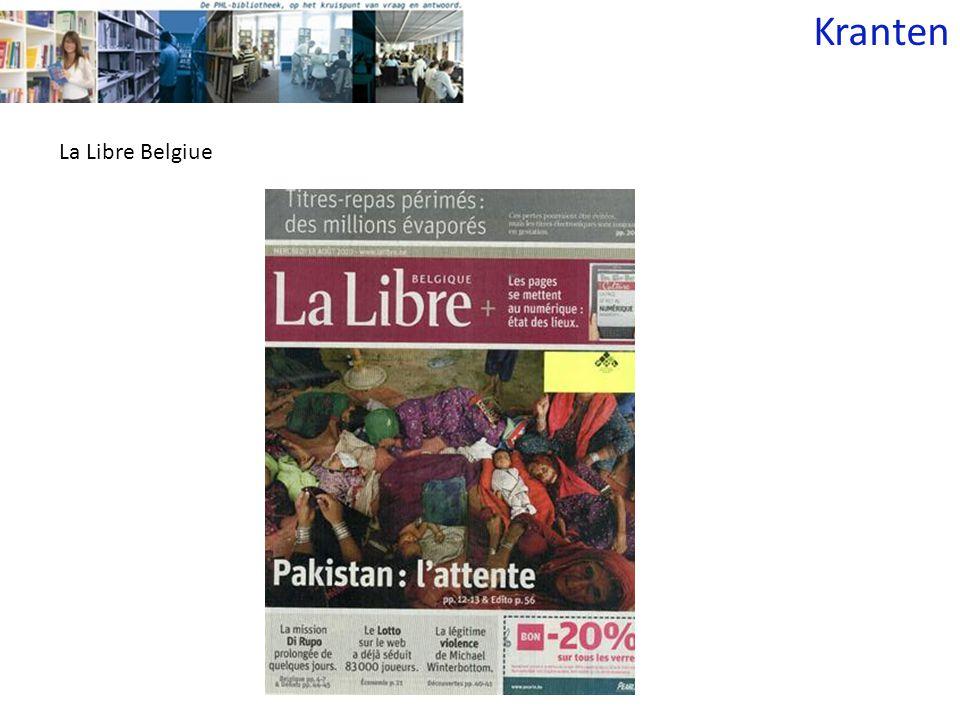 Kranten La Libre Belgiue
