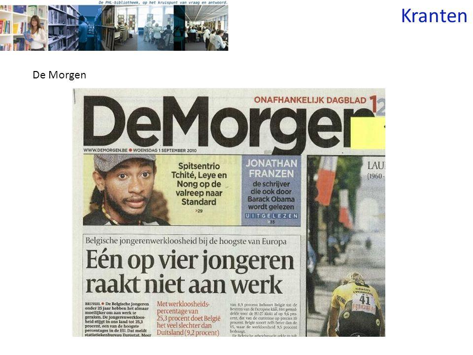 Kranten De Morgen