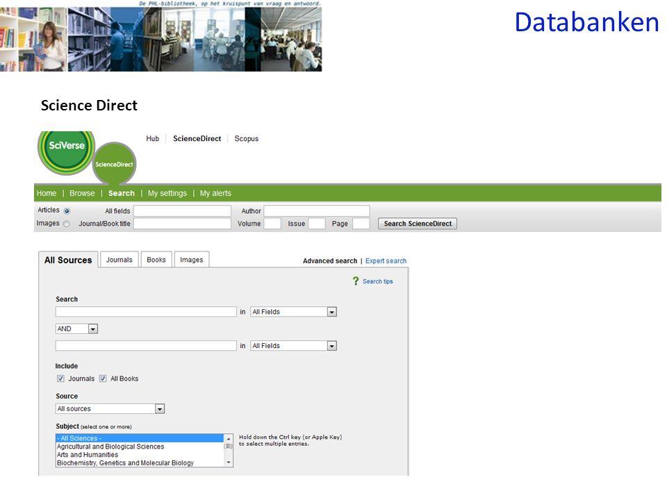 Science Direct Databanken