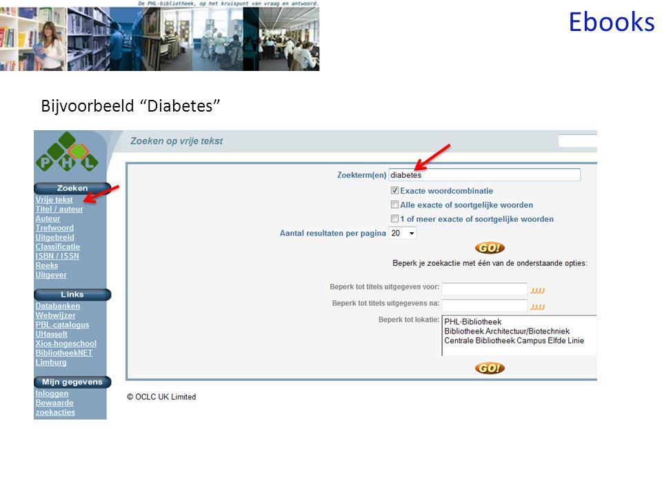 Bijvoorbeeld Diabetes Ebooks