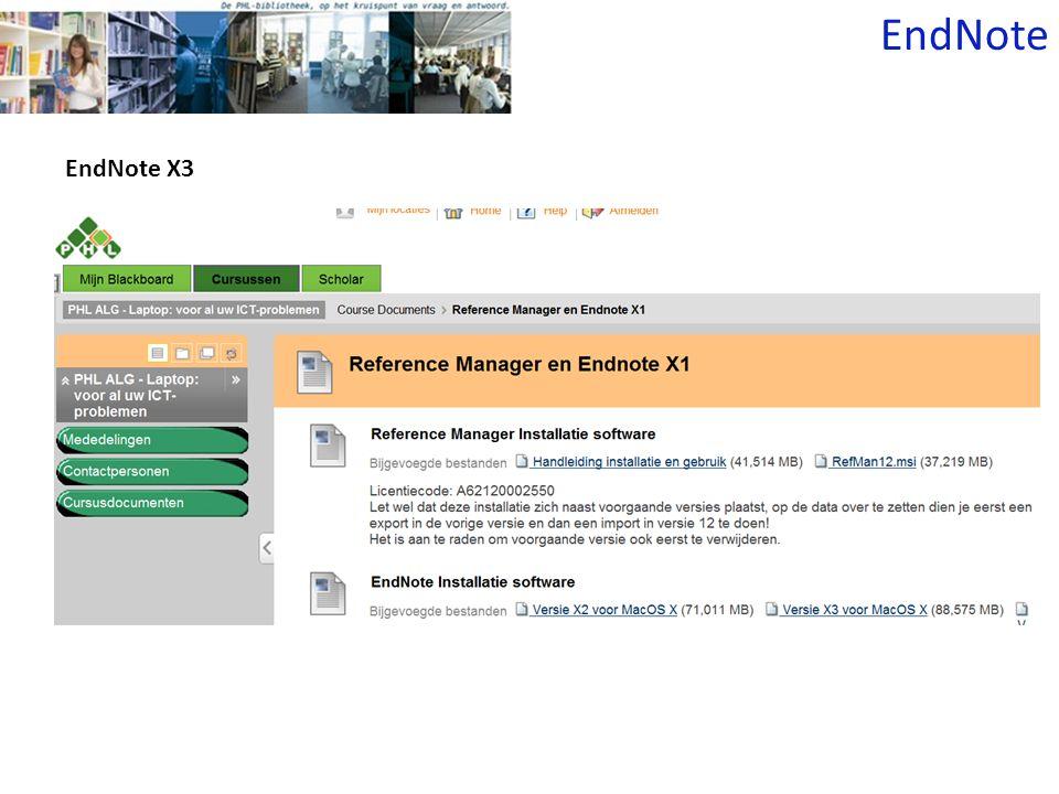 EndNote EndNote X3