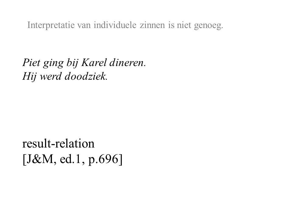 Interpretatie van individuele zinnen is niet genoeg.