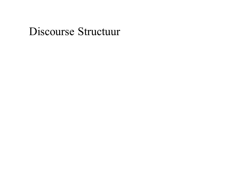 Discourse Structuur