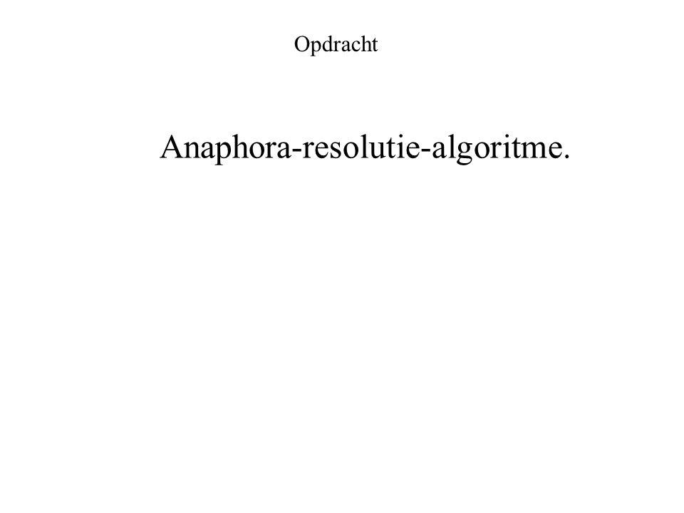 Opdracht Anaphora-resolutie-algoritme.