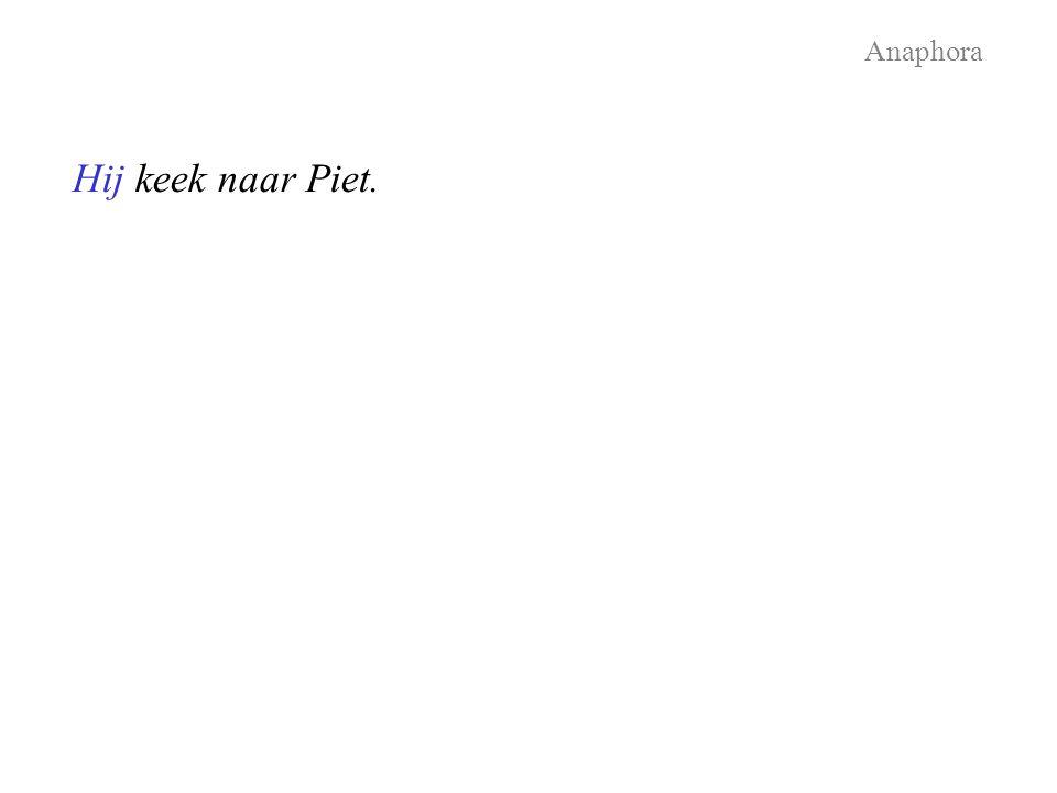 Hij keek naar Piet. Anaphora