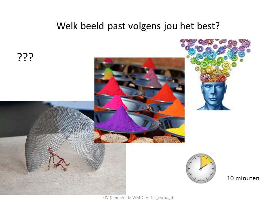 Welk beeld past volgens jou het best? ??? GV (binn)en de WMO: Visie gevraagd 10 minuten