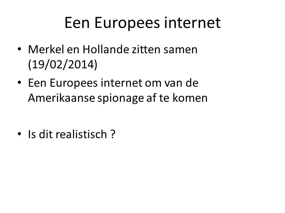Een Europees internet Merkel en Hollande zitten samen (19/02/2014) Een Europees internet om van de Amerikaanse spionage af te komen Is dit realistisch