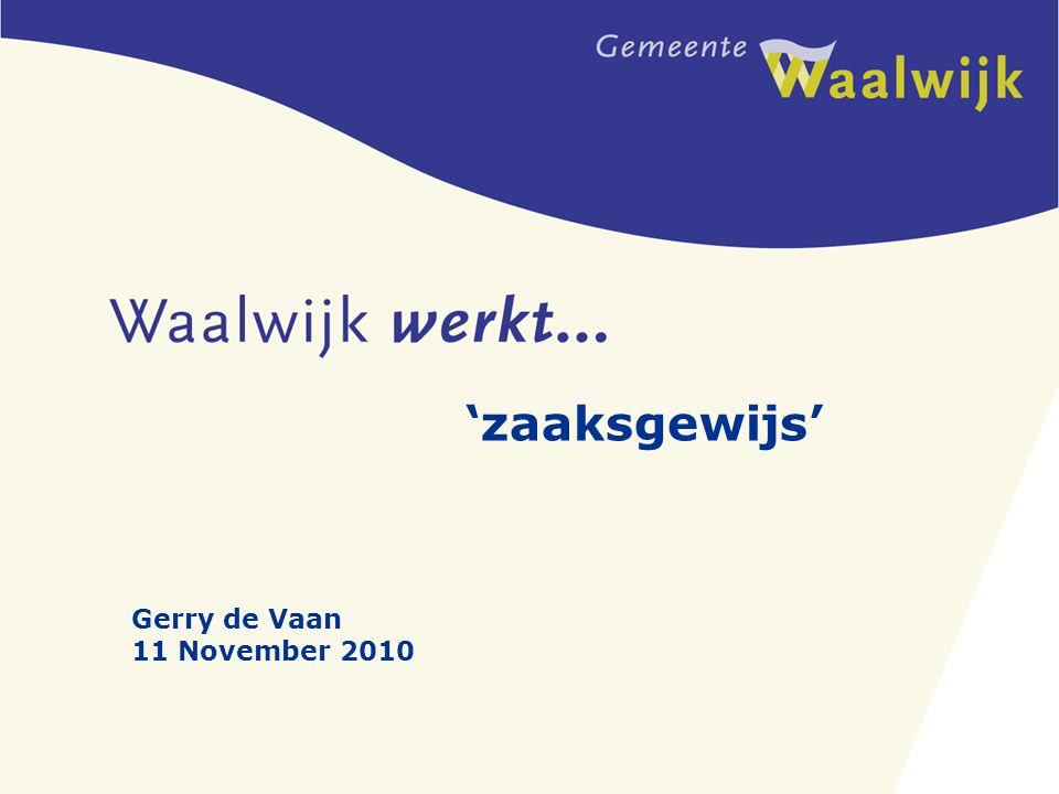 'zaaksgewijs' Gerry de Vaan 11 November 2010