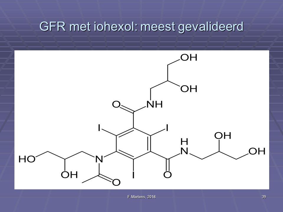 F.Martens, 201439 GFR met iohexol: meest gevalideerd
