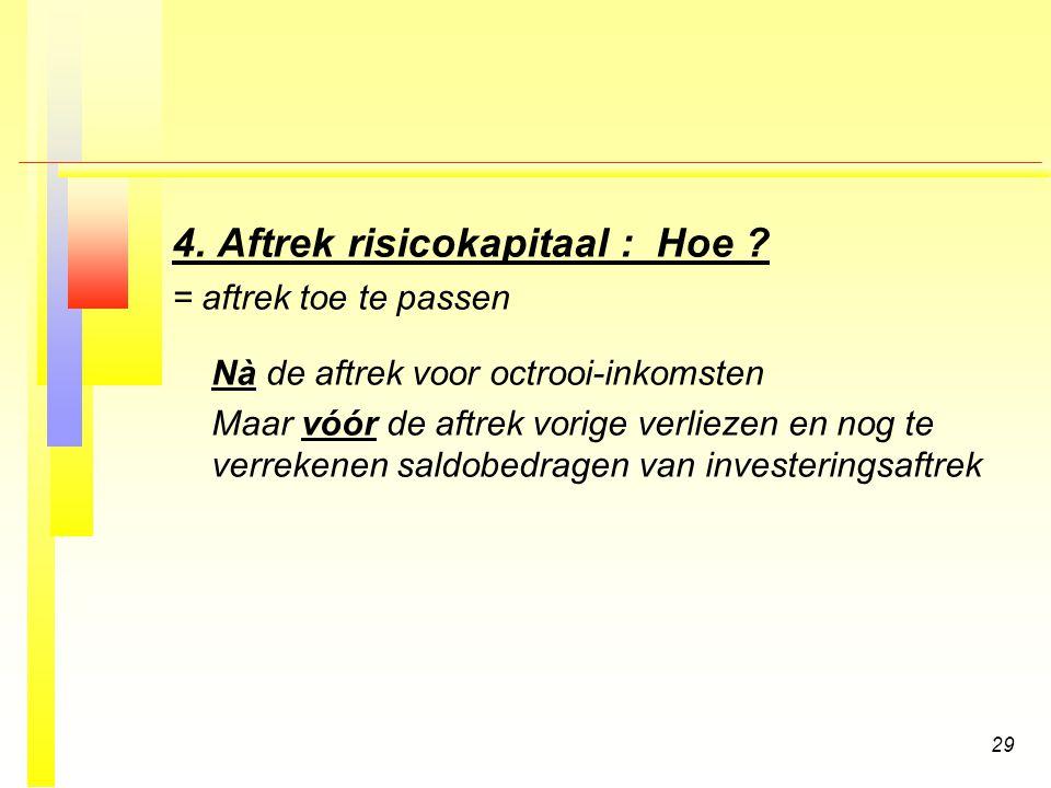 29 4.Aftrek risicokapitaal : Hoe .