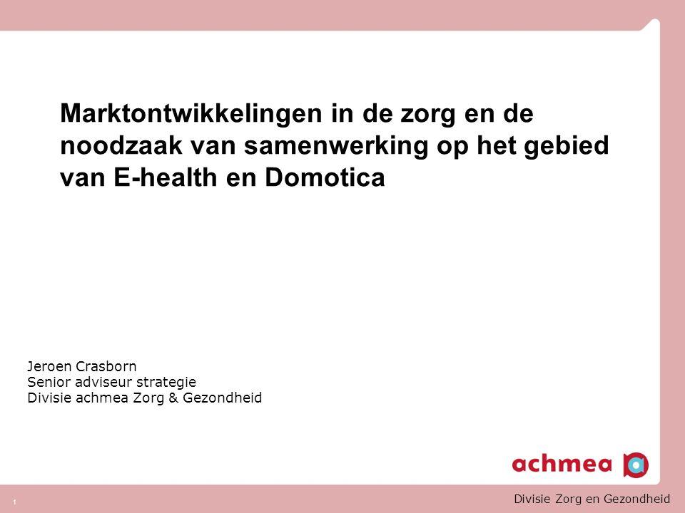 ' Bij innovatie heb je altijd een doel, maar je weet nooit precies waar je uitkomt': Stichting Zorg Binnen Bereik ( Philips werkt hier samen met Achmea) 'Telezorg wordt ook wel zorg op afstand genoemd: Maar eigenlijk is het juist zorg dichtbij Dat is hoe de patiënt het moet ervaren.